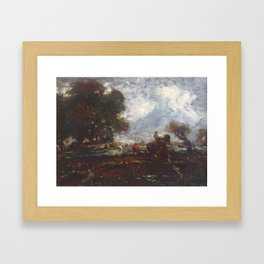 Formerly attributed to John Constable 1776–1837   The Leaping Horse Framed Art Print