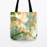 magnolia Tote Bags featuring Magnolia by Cassia Beck