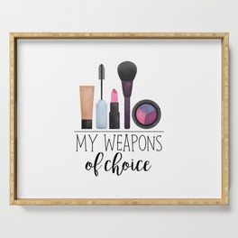 My Weapons Of Choice     Makeup Serving Tray