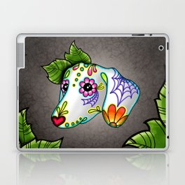 Dachshund - Day of the Dead Sugar Skull Wiener Dog Laptop & iPad Skin