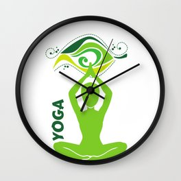 Relaxation Yoga Wall Clock