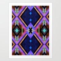 tarot Art Prints featuring Tarot 1B by Schatzi Brown