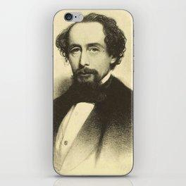 Vintage Charles Dickens Portrait iPhone Skin