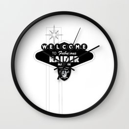 LAS VEGAS RAIDERS SIGN WHITE STAND Wall Clock