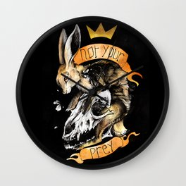 Not your prey Wall Clock
