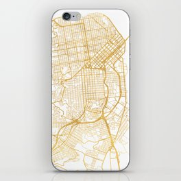 SAN FRANCISCO CALIFORNIA CITY STREET MAP ART iPhone Skin