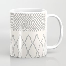 Moroccan Patchwork in Cream and Grey Coffee Mug