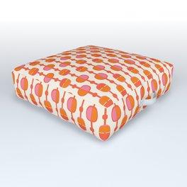 Mid Century Retro Dots Outdoor Floor Cushion