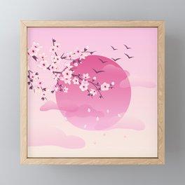 Japanese Cherry Blossom Pink Framed Mini Art Print