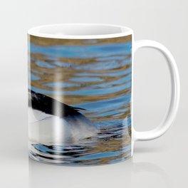 Bufflehead Duck on the Winter Pond Coffee Mug