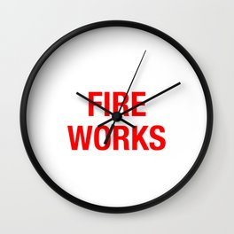 FIRE WORKS Wall Clock
