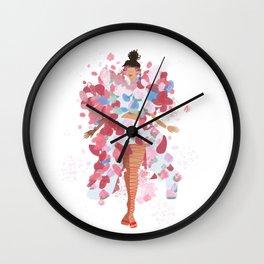rihanna x comme x metgala17 Wall Clock