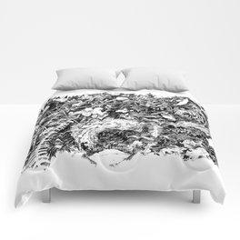 Inky Undergrowth Comforters