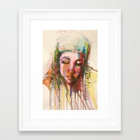 aaliyah Framed Art Prints featuring Aaliyah by Tanya ST