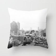 Lower East Side Skyline #3 Throw Pillow