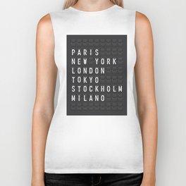 Paris, New York, London, Tokyo, Stockholm, Milano Biker Tank