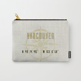 Vancouver - Vintage Map and Location Carry-All Pouch