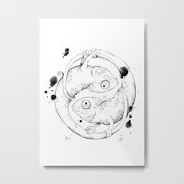 YinYang Metal Print