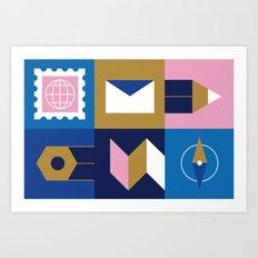 Travel Postcard Art Print