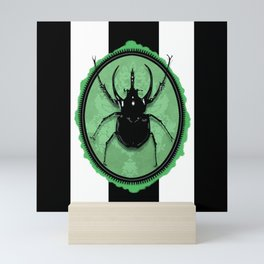 Juicy Beetle GREEN Mini Art Print
