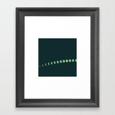 #233 Summer night – Geometry Daily Framed Art Print