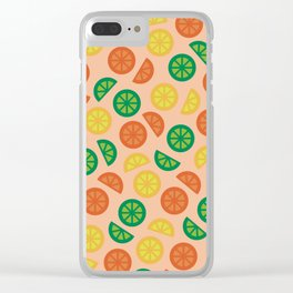 Fruity Slices Clear iPhone Case