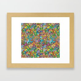 A pinch of everything in a pattern full of carnival colors Framed Art Print