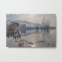 Foggy Winter. Mammoth Laggon. Metal Print