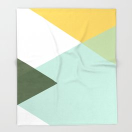 Geometrics - citrus & concrete Throw Blanket