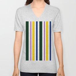 Stripes in colour 1 Unisex V-Neck