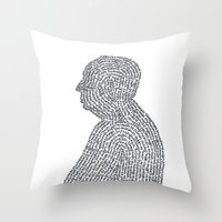 hitchcock Throw Pillows featuring Hitchcock by S. L. Fina
