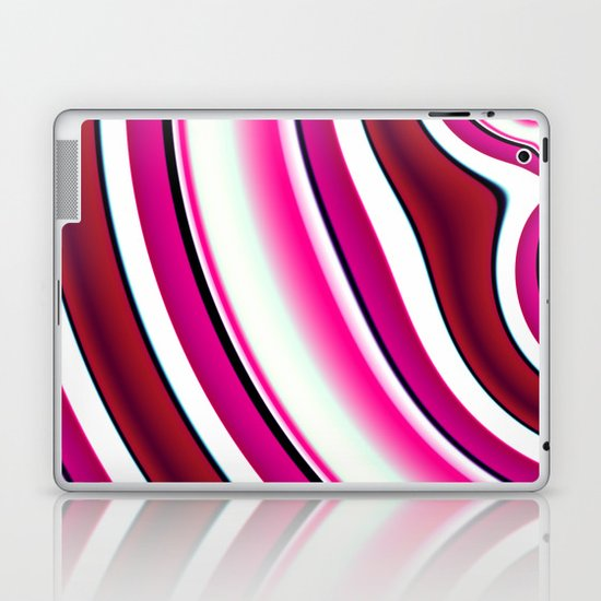 Pink red white Laptop & iPad Skin