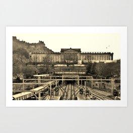 Edinburgh - where all ways lead to culture Art Print