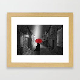 Alone in the rainy night Framed Art Print