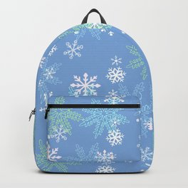 blue snow Backpack