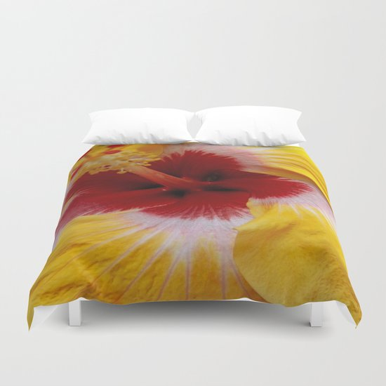Yellow Burst Duvet Cover