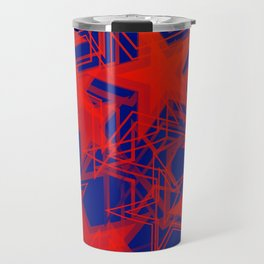 Vector blue background in red stars. For registration of paper or banners. Travel Mug