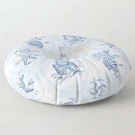 Sandcastle Nautical - Pattern Floor Pillow