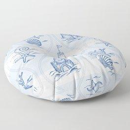 Sandcastle Nautical - Pattern Floor Pillow