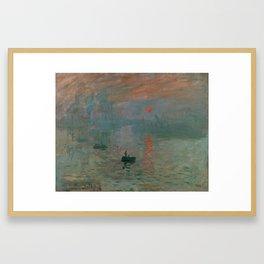 Impression, Sunrise Framed Art Print