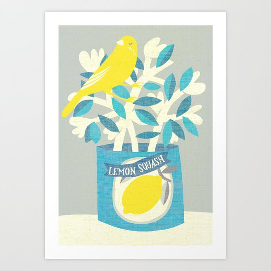 lemon squash Art Print