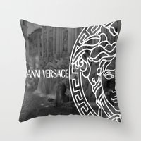 versace Throw Pillows featuring versace 3 by Beauti Asylum