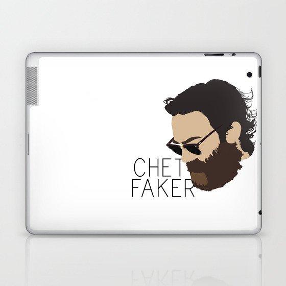 Chet Faker - Minimalistic Print Laptop & iPad Skin by congresstarts