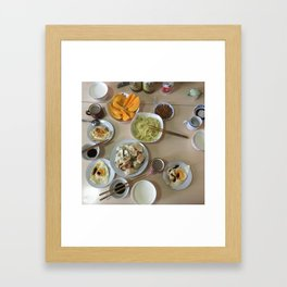 Chinese farewell breakfast Framed Art Print