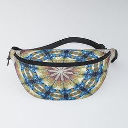 Healing Crystals with Geode Mandala Fanny Pack