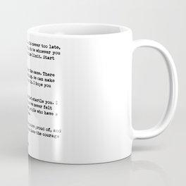 F Scott Fitzgerald quote Coffee Mug