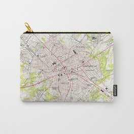 Vintage Map of Spartanburg South Carolina (1949) Carry-All Pouch