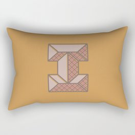 BOLD 'I' DROPCAP Rectangular Pillow