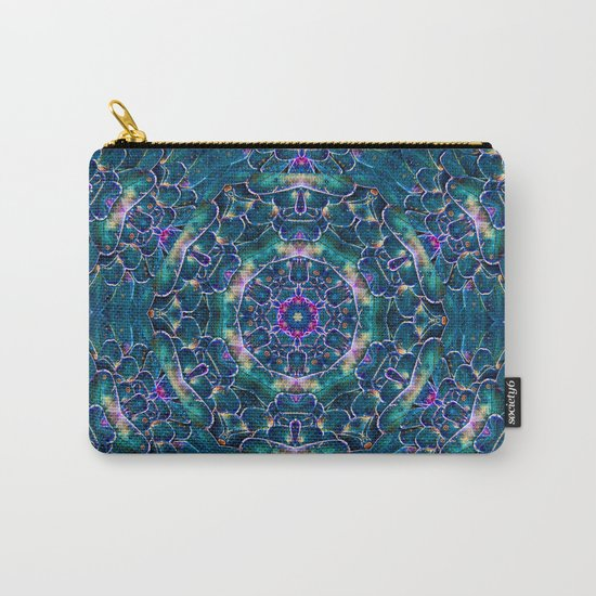 Blue butterfly wings mandala Carry-All Pouch