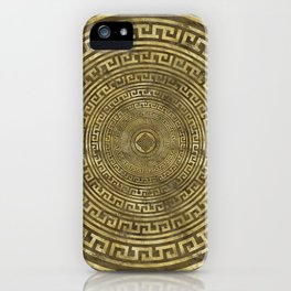 Circular Greek Meander Pattern - Greek Key Ornament iPhone Case